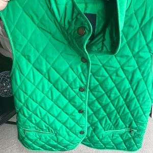 Quilted fall vest